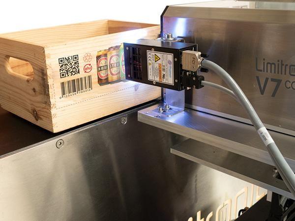 Impresión digital Limitronic en cajas de madera